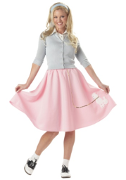 Adult Pink Poodle Skirt Costume