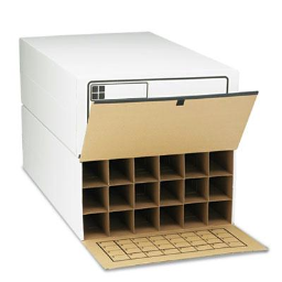 """Safco 36"""" Long 18-Roll Tube-Stor File Storage Boxes  2/Carton"""