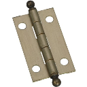 """National 213546 Hinges, Solid Antique Brass ~ 1 - 1/2"""" x 7/8"""""""
