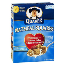 Quaker Oats Oatmeal Squares Crunchy Oatmeal Cereal Brown Sugar - 14.5 Ounces