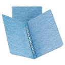 """Smead 3"""" Capacity 8-1/2"""" x 11"""" Prong Fastener Side Opening Pressboard Report Cover  Blue"""