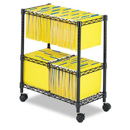 Safco 2-Tier Rolling File Cart