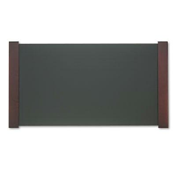 """Carver 21"""" x 38"""" Desk Pad with Wood End Panels  Mahogany"""