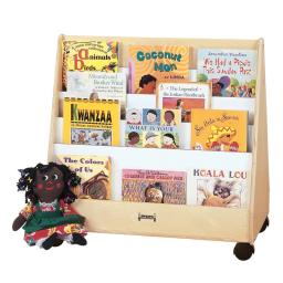 Jonti-Craft Double Sided Pick-a-Book Mobile Display Stand