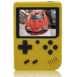 Retro Portable Mini Handheld Game Console - Assorted Colors / Yellow