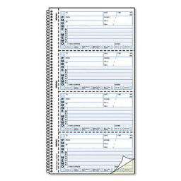 """Rediform 5-1/2"""" x 2-3/4"""" 400-Page 2-Part Self-Stick Telephone Message Book"""