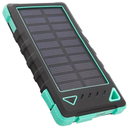 Maze Exclusive 8,000mAh High-Speed 2-Port Solar Power Bank / Turquoise