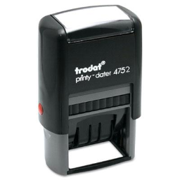 """Trodat Economy Self-Inking Dater  1-5/8"""" x 1""""  Blue/Red Ink"""
