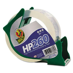 """Duck HP260 Packaging Tape with Dispenser  3"""" Core"""