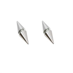 Pair of Silver Double Side Spike End Magnetic Earrings 9mm