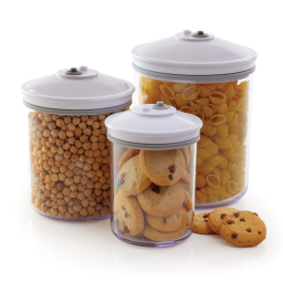 FoodSaver® 3 Piece Round Canister Set by Foodsaver