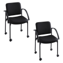 Safco Moto 4184 Fabric Stacking Chair  2-Pack