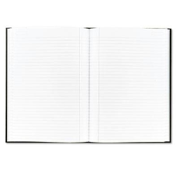 """TOPS Royale 8-1/4"""" X 11-3/4"""" 96-Sheet Legal Rule Casebound Business Notebook  Black/Gray Cover"""