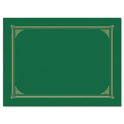 """Geographics 9-3/4"""" x 12-1/2"""" 6-Pack Certificate Document Cover  Green"""