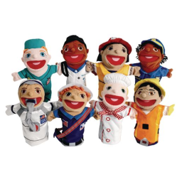 Excellerations® Big-Mouth Career Puppets Set of 8