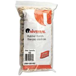 """Universal 2-1/2"""" x 1/4"""" Size #62 Rubber Bands  1 lb. Pack"""