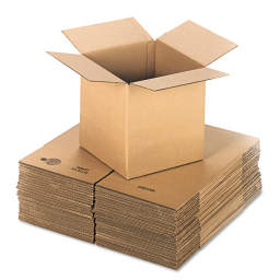 """General Supply 12"""" x 12"""" x 12"""" Corrugated Shipping Boxes  Brown  Pack of 25"""