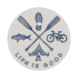 Life is Good Outdoor Action 4 Circle Sticker