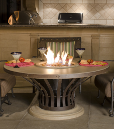 Fiesta Chat Height Fire Pit Table
