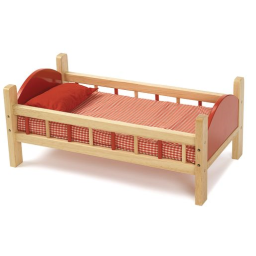 Wooden Doll Bed - 21-3/4L