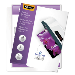 Fellowes ImageLast 3 Mil Letter-Size Laminating Pouches with UV Protection  50/Pack
