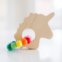 Unicorn Teether with Rainbow Silicone Ring