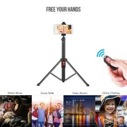 55inch Flexible Tripod Selfie Stick Support Stand with Bluetooth Remote