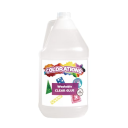 Colorations® Washable Clear Glue for Making Slime, Gallon