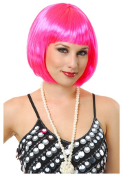 Short Bob Hot Pink Wig for Women