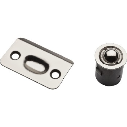 National N830-107 Drive-In Ball Catch for Cabinet Doors,  Satin Nickel