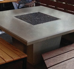 Cosmopolitan Textured Finish Square Dining Fire Pit Table